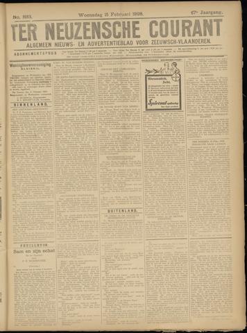 Ter Neuzensche Courant. Algemeen Nieuws- en Advertentieblad voor Zeeuwsch-Vlaanderen / Neuzensche Courant ... (idem) / (Algemeen) nieuws en advertentieblad voor Zeeuwsch-Vlaanderen 1928-02-15