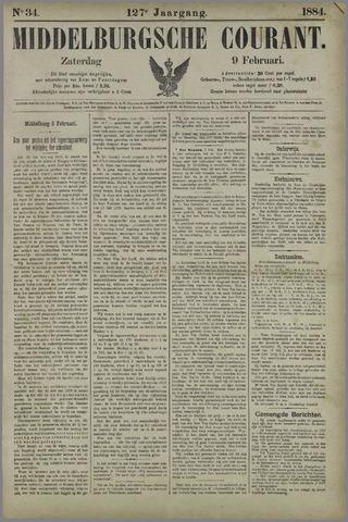 Middelburgsche Courant 1884-02-09