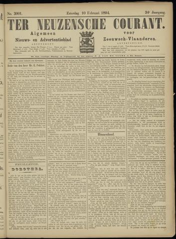 Ter Neuzensche Courant. Algemeen Nieuws- en Advertentieblad voor Zeeuwsch-Vlaanderen / Neuzensche Courant ... (idem) / (Algemeen) nieuws en advertentieblad voor Zeeuwsch-Vlaanderen 1894-02-10
