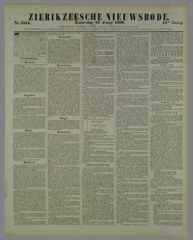 Zierikzeesche Nieuwsbode 1888-06-16