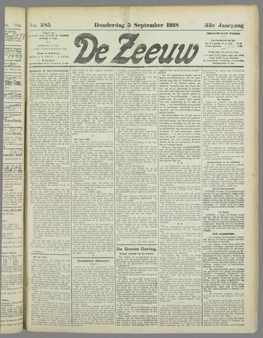 De Zeeuw. Christelijk-historisch nieuwsblad voor Zeeland 1918-09-05