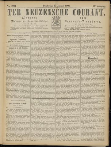 Ter Neuzensche Courant. Algemeen Nieuws- en Advertentieblad voor Zeeuwsch-Vlaanderen / Neuzensche Courant ... (idem) / (Algemeen) nieuws en advertentieblad voor Zeeuwsch-Vlaanderen 1901-01-17