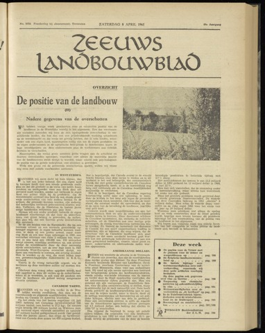 Zeeuwsch landbouwblad ... ZLM land- en tuinbouwblad 1961-04-08