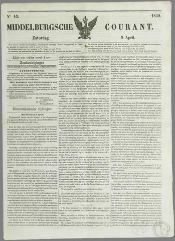 Middelburgsche Courant 1859-04-09