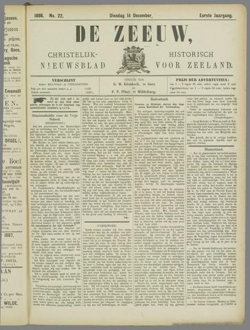 De Zeeuw. Christelijk-historisch nieuwsblad voor Zeeland 1886-12-14