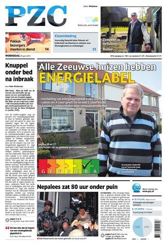 Provinciale Zeeuwse Courant 2015-04-29