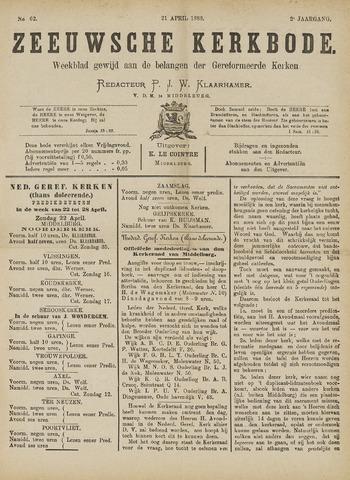 Zeeuwsche kerkbode, weekblad gewijd aan de belangen der gereformeerde kerken/ Zeeuwsch kerkblad 1888-04-21