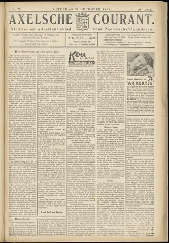 Axelsche Courant 1938-12-31