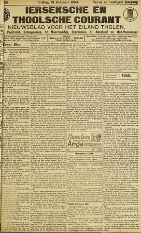 Ierseksche en Thoolsche Courant 1930-02-21