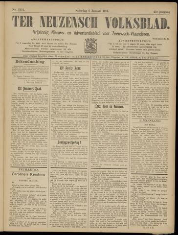 Ter Neuzensch Volksblad. Vrijzinnig nieuws- en advertentieblad voor Zeeuwsch- Vlaanderen / Zeeuwsch Nieuwsblad. Nieuws- en advertentieblad voor Zeeland 1912-01-06