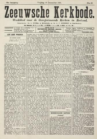 Zeeuwsche kerkbode, weekblad gewijd aan de belangen der gereformeerde kerken/ Zeeuwsch kerkblad 1921-12-16