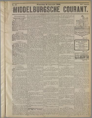 Middelburgsche Courant 1922-01-16