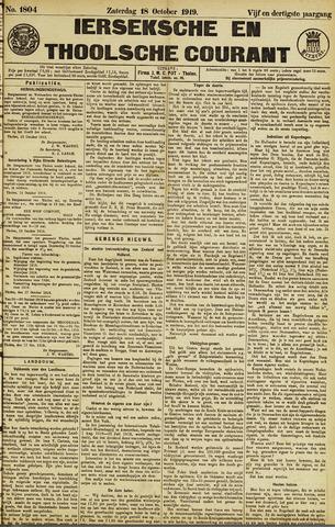 Ierseksche en Thoolsche Courant 1919-10-18