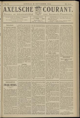Axelsche Courant 1924-09-30