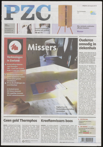 Provinciale Zeeuwse Courant 2014-03-28