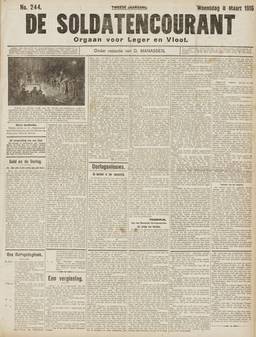 De Soldatencourant. Orgaan voor Leger en Vloot 1916-03-08