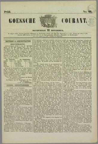 Goessche Courant 1852-11-11