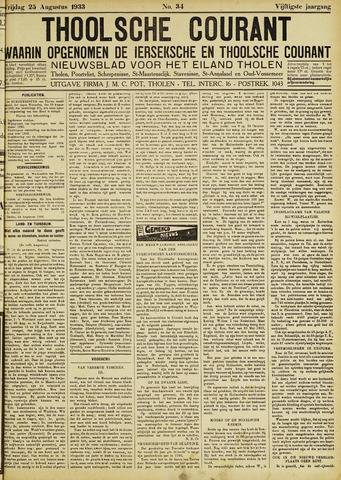 Ierseksche en Thoolsche Courant 1933-08-25