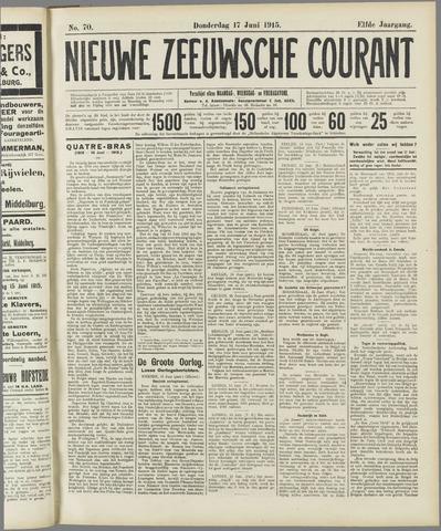 Nieuwe Zeeuwsche Courant 1915-06-17