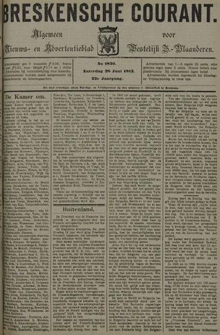 Breskensche Courant 1913-06-28