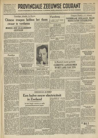 Provinciale Zeeuwse Courant 1951-02-09