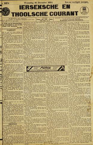 Ierseksche en Thoolsche Courant 1924-12-31