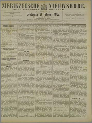 Zierikzeesche Nieuwsbode 1907-02-21