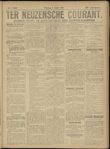 Ter Neuzensche Courant. Algemeen Nieuws- en Advertentieblad voor Zeeuwsch-Vlaanderen / Neuzensche Courant ... (idem) / (Algemeen) nieuws en advertentieblad voor Zeeuwsch-Vlaanderen 1921-04-08
