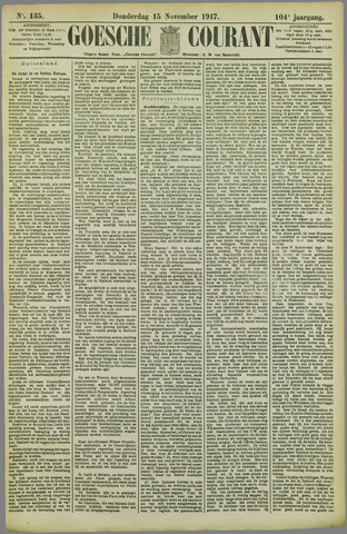 Goessche Courant 1917-11-15