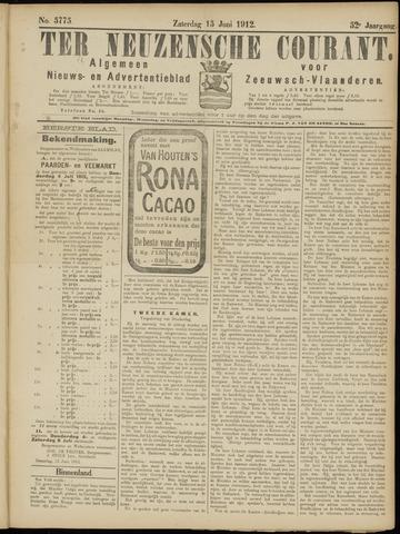 Ter Neuzensche Courant. Algemeen Nieuws- en Advertentieblad voor Zeeuwsch-Vlaanderen / Neuzensche Courant ... (idem) / (Algemeen) nieuws en advertentieblad voor Zeeuwsch-Vlaanderen 1912-06-15