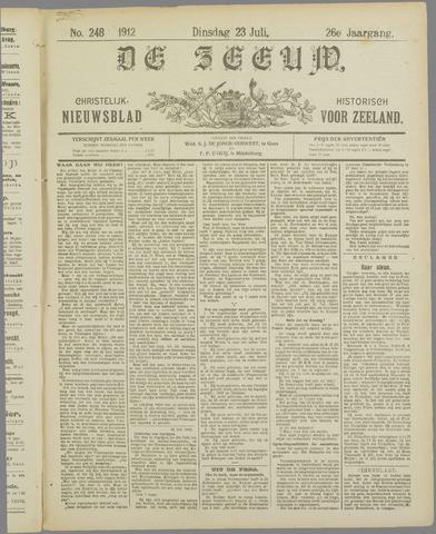 De Zeeuw. Christelijk-historisch nieuwsblad voor Zeeland 1912-07-23