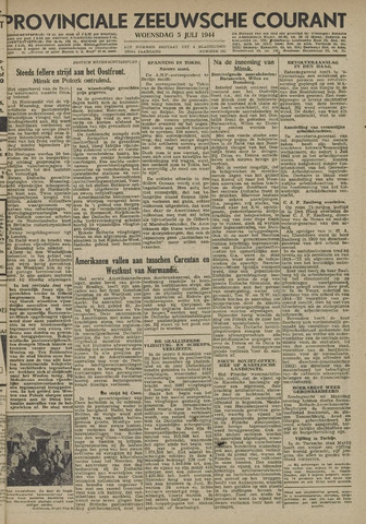 Provinciale Zeeuwse Courant 1944-07-05