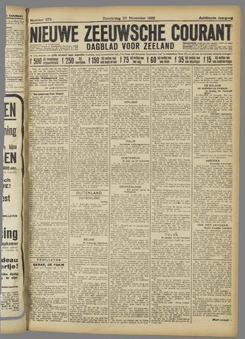 Nieuwe Zeeuwsche Courant 1922-11-30