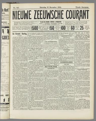 Nieuwe Zeeuwsche Courant 1914-12-12
