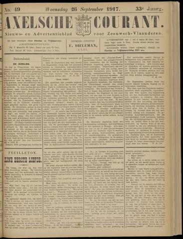Axelsche Courant 1917-09-26