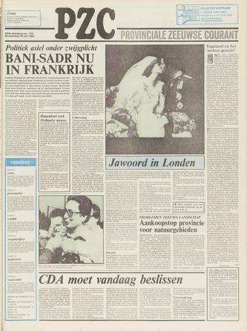 Provinciale Zeeuwse Courant 1981-07-30