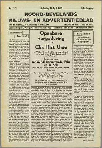 Noord-Bevelands Nieuws- en advertentieblad 1950-04-15
