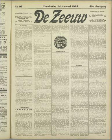 De Zeeuw. Christelijk-historisch nieuwsblad voor Zeeland 1924-01-24
