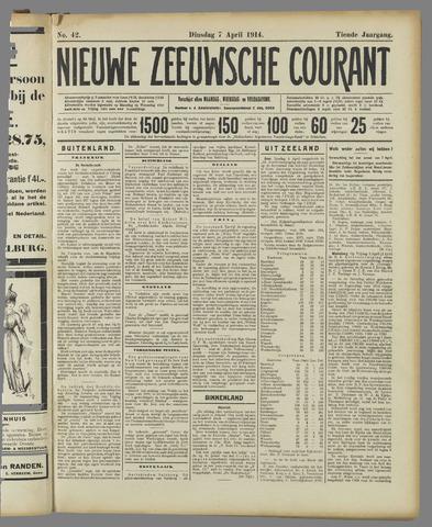 Nieuwe Zeeuwsche Courant 1914-04-07