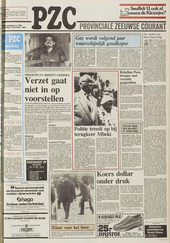 Provinciale Zeeuwse Courant 1987-11-07