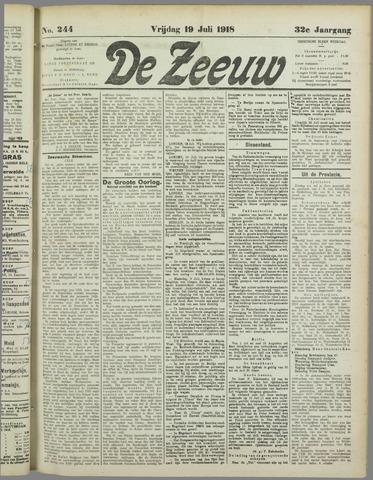 De Zeeuw. Christelijk-historisch nieuwsblad voor Zeeland 1918-07-19