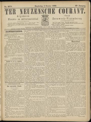 Ter Neuzensche Courant. Algemeen Nieuws- en Advertentieblad voor Zeeuwsch-Vlaanderen / Neuzensche Courant ... (idem) / (Algemeen) nieuws en advertentieblad voor Zeeuwsch-Vlaanderen 1900-10-04