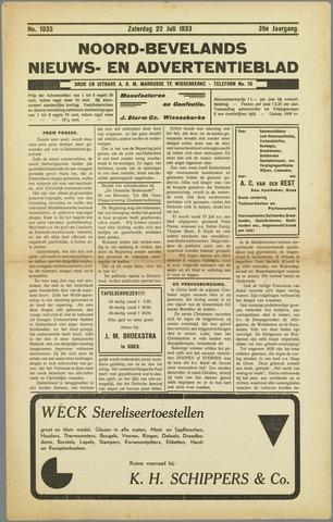 Noord-Bevelands Nieuws- en advertentieblad 1933-07-22