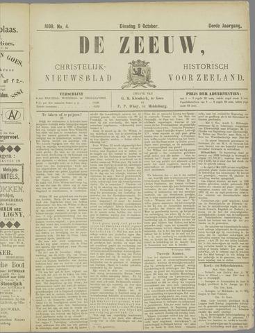 De Zeeuw. Christelijk-historisch nieuwsblad voor Zeeland 1888-10-09