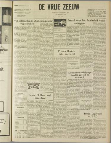 de Vrije Zeeuw 1962-11-12