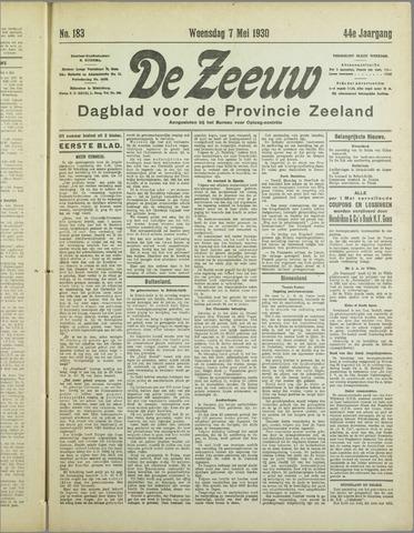 De Zeeuw. Christelijk-historisch nieuwsblad voor Zeeland 1930-05-07