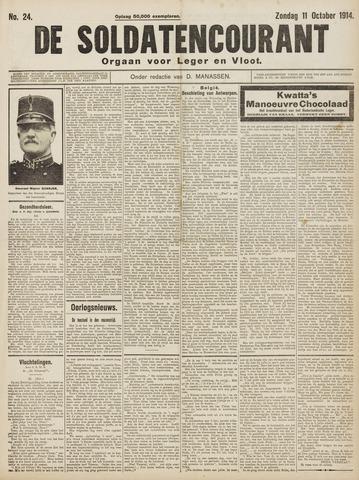 De Soldatencourant. Orgaan voor Leger en Vloot 1914-10-11
