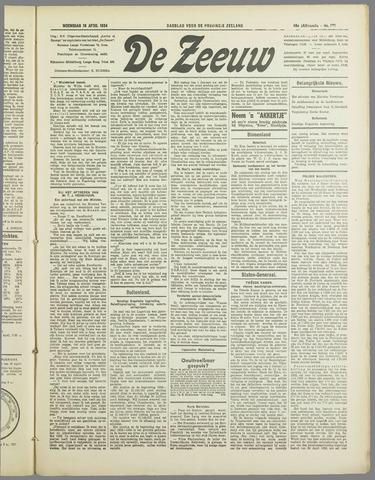 De Zeeuw. Christelijk-historisch nieuwsblad voor Zeeland 1934-04-18