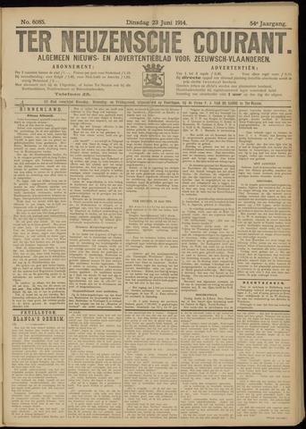 Ter Neuzensche Courant. Algemeen Nieuws- en Advertentieblad voor Zeeuwsch-Vlaanderen / Neuzensche Courant ... (idem) / (Algemeen) nieuws en advertentieblad voor Zeeuwsch-Vlaanderen 1914-06-23