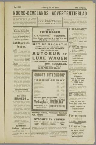 Noord-Bevelands Nieuws- en advertentieblad 1928-07-21